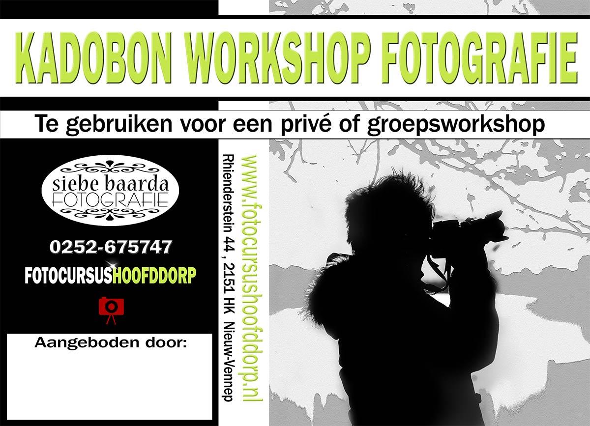 kadobon workshop fotografie cadeau idee Hoofddorp