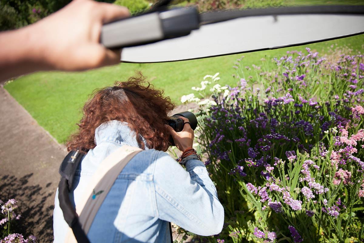 reflectiescherm lastolite trigrip fotografie bloemen tip fotograferen schaduw licht workshop