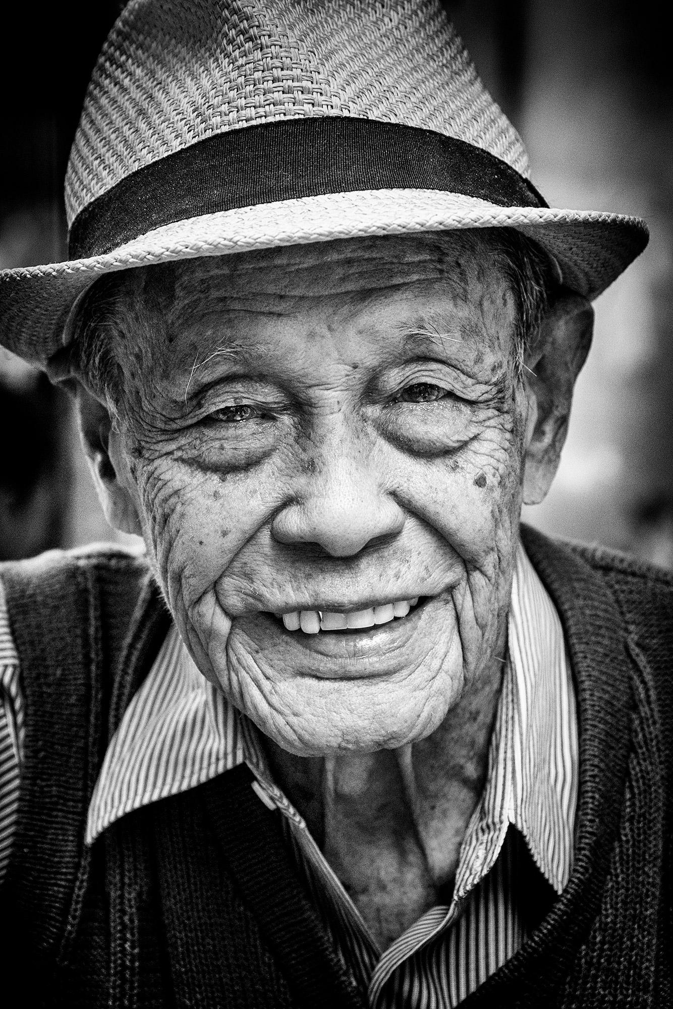 portret oudere man Bangkok